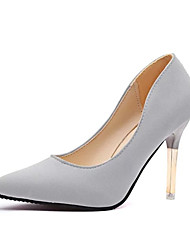 cheap -Women's Shoes Leatherette Spring & Summer Basic Pump Heels Stiletto Heel Pointed Toe Black / Light Grey / Pink / Wedding