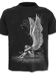 baratos -Homens Camiseta Exagerado Moda de Rua Estampado, Estampa Colorida Retrato