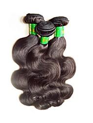 baratos -3 pacotes Cabelo Indiano / Onda de Corpo Onda de Corpo Cabelo Virgem / Cabelo Remy Extensões de Cabelo Natural Tramas de cabelo humano Macio / Suave / Para Mulheres Negras Côr Natural Extensões de