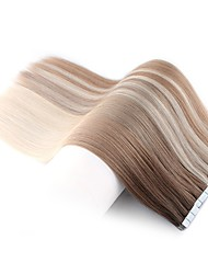 cheap -Tape In Human Hair Extensions Straight Remy Human Hair Brazilian Hair 1pack Women's Christmas Gifts / Wedding / Party