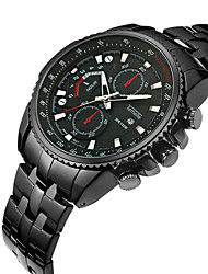 cheap -Men's Sport Watch Calendar / date / day Stainless Steel Band Luxury / Cool Black / Silver