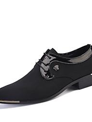 Недорогие -Муж. Официальная обувь Ткань Весна / Осень Туфли на шнуровке Черный