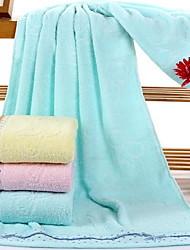 cheap -Fresh Style Bath Towel, Solid Colored Superior Quality Pure Cotton Woven Plain 1pcs