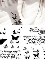 economico -5 pcs Tatuaggi adesivi Tatuaggi temporanei Serie animali arti del corpo braccio