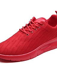 baratos -Homens sapatos Courino Primavera Outono Conforto Tênis Caminhada Corrida para Atlético Casual Preto Cinzento Vermelho