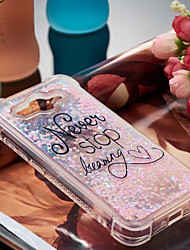 cheap -Case For Huawei Y6 (2017)(Nova Young) / Y3 (2017) Shockproof / Flowing Liquid / Pattern Back Cover Word / Phrase Soft TPU for Huawei Y7