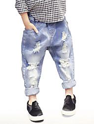 preiswerte -Kinder Mädchen Jungen Solide Jeans