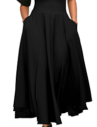 cheap -Women's Going out Street chic Swing Skirts - Solid Colored, Bow Pleated