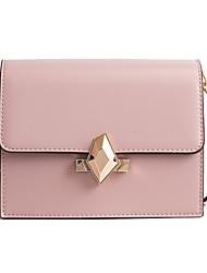 baratos -Mulheres Bolsas PU Bolsa de Ombro Botões / Ziper para Compras / Para Noite Vermelho / Rosa / Cinzento