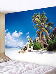 abordables -Thème plage Paysage Décoration murale Polyester Moderne Art mural, Tapisseries murales Décoration