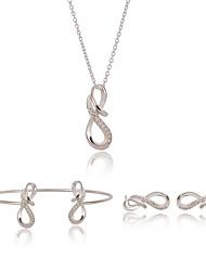 Недорогие -Жен. Синтетический алмаз Комплект ювелирных изделий - Винтаж, Мода, Элегантный стиль Включают Серебряный Назначение Повседневные / Для