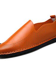 abordables -Homme Chaussures Faux Cuir / Polyuréthane Printemps / Eté Confort Mocassins et Chaussons+D6148 Noir / Orange / Beige