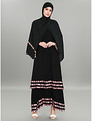 cheap -BENEVOGA Women's Sophisticated / Street chic Abaya - Striped / Color Block, Jacquard / Patchwork