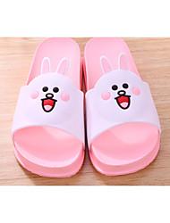 baratos -Para Meninas Sapatos PVC Verão Conforto Chinelos e flip-flops para Rosa claro / Castanho Escuro