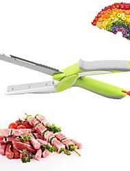 baratos -6 em 1 placa de corte de alimentos tesoura cortador inteligente cortador cortador de legumes faca de frutas