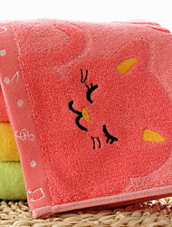 abordables -Style frais Serviette de bain Essuie-mains, Couleur Pleine Qualité supérieure 100% Fibre de bambou 100% coton 4.0pcs