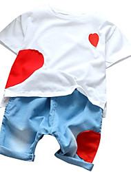 Недорогие -Дети Мальчики Пэчворк С короткими рукавами Набор одежды