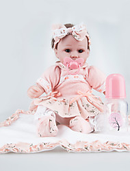 cheap -Reborn Doll 18inch Newborn, lifelike Girls' / Boys' Kid's Gift