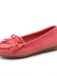 Недорогие -Жен. Обувь Ткань Весна лето Удобная обувь На плокой подошве На плоской подошве Круглый носок С кисточками Темно-красный / Миндальный /