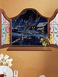 economico -Adesivi decorativi da parete - Adesivi aereo da parete Natale Salotto / Camera da letto