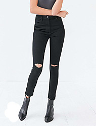 cheap -Women's Street chic Skinny Skinny Jeans Pants - Solid Colored Pure Color High Waist