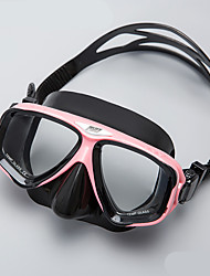 abordables -Lunettes de natation / Masque de Nage Anti buée, Taille ajustable, Etanche Deux-fenêtre - Plongée, Snorkeling Caoutchouc silicone, Verre Trempé - pour Noir / Rose / Jaune / noir.