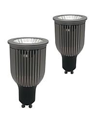 Недорогие -zdm 2шт gu10 gu5.3 e27 e14 9w 670-750lm черный утолщенный алюминий без диммируемого отражателя светодиодные лампы ac85-265v