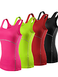 cheap -Women's Running Tank Top - Blue, Grey, Fuchsia Sports Tank Top Yoga, Fitness, Gym Sleeveless Activewear Quick Dry, Breathable, Soft High Elasticity