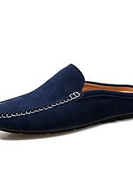 Недорогие -Муж. обувь Кожа / Полиуретан Лето Удобная обувь / Формальная обувь Башмаки и босоножки Темно-синий / Желтый / Хаки