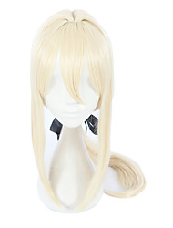 cheap -Synthetic Wig Straight Blonde Asymmetrical Haircut Synthetic Hair Cosplay Blonde Wig Women's Long Capless / Yes