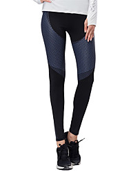 cheap -BARBOK Women's Patchwork Yoga Pants - Gold, Blue, Grey Sports Reactive Print, Fashion High Rise Tights / Leggings Running, Fitness, Gym Activewear Quick Dry, Breathable, Butt Lift Stretchy