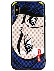 Недорогие -Кейс для Назначение Apple iPhone X / iPhone 8 Ультратонкий Кейс на заднюю панель Мультипликация Мягкий ТПУ для iPhone X / iPhone 8 Pluss / iPhone 8
