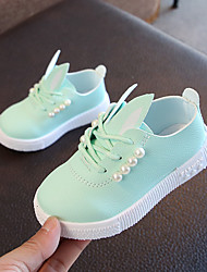 cheap -Girls' Shoes PU(Polyurethane) Spring & Summer Comfort Sneakers Walking Shoes Imitation Pearl for Kids White / Pink / Light Green