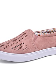 cheap -Women's Shoes Cotton Fall / Spring & Summer Comfort Loafers & Slip-Ons Walking Shoes Low Heel Round Toe Blue / Pink