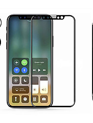 cheap -Screen Protector for Apple iPhone X Tempered Glass 1 pc Front Screen Protector / Front & Camera Lens Protector High Definition (HD) / 9H Hardness / Anti-Fingerprint