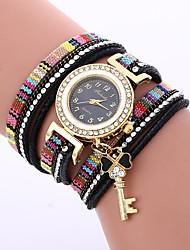 Недорогие -Жен. Часы-браслет Китайский Повседневные часы / Милый / Имитация Алмазный PU Группа Богемные / Мода Черный / Синий / Красный