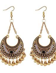 cheap -Women's Long Drop Earrings - Vintage, Ethnic, Fashion Black / Rainbow / Blue For Wedding / Birthday