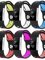 Недорогие -Ремешок для часов для Fitbit Charge 2 Fitbit Спортивный ремешок силиконовый Повязка на запястье