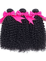 cheap -Brazilian Hair Curly Natural Color Hair Weaves / Human Hair Extensions Gift Bag 8-28 inch Human Hair Weaves Capless Best Quality / For Black Women / curling Natural Black Human Hair Extensions Women's