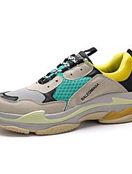 Недорогие -Жен. Обувь Полиуретан Весна / Осень Удобная обувь Спортивная обувь Беговая обувь На плоской подошве Круглый носок / Закрытый мыс Черный /