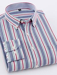 お買い得  -男性用 シャツ ベーシック ソリッド / ストライプ
