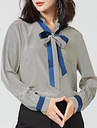 cheap -women's work shirt - houndstooth shirt collar
