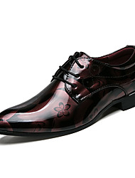 Недорогие -Муж. Обувь для вождения Лакированная кожа Лето Удобная обувь Туфли на шнуровке Красный / Синий / Для вечеринки / ужина