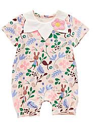 Недорогие -малыш Девочки Цветочный принт Короткие рукава 1 предмет