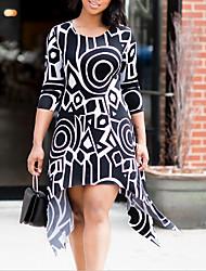 cheap -Women's Going out Slim Sheath Dress Asymmetrical / Summer