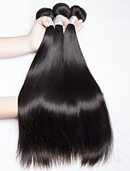 cheap -3 Bundles Indian Hair Straight Human Hair Natural Color Hair Weaves / Hair Bulk / Extension 8-28 inch Natural Color Human Hair Weaves Machine Made Best Quality / Hot Sale / For Black Women Human Hair
