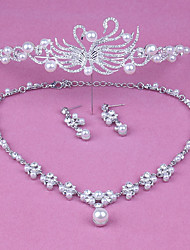 cheap -Alloy Tiaras / Earring with Rhinestone / Imitation Pearl 1 Piece Wedding / Special Occasion Headpiece