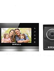 baratos -XINSILU XSL-V70K-L+,black 7 polegada Mãos Livres 800*480 Pixel Interfone de Vídeo Um para Um
