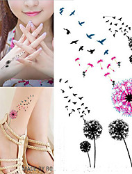 billiga -10 pcs Tatueringsklistermärken tillfälliga tatueringar Blomserier Body art arm / handled / skuldra