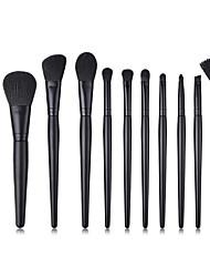 preiswerte -11pcs Makeup Bürsten Professional Bürsten-Satz- Nylonfaser Umweltfreundlich / Weich Holz / Bambus